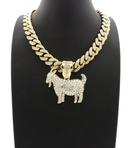 Hip Hop GOAT Pendant & 12mm 18