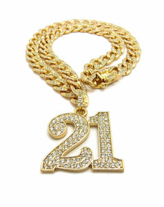 New Iced out SAVAGE 21 Pendant & 18