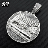 HIP HOP ICED OUT LAB DIAMOND WHITE GOLD PLATED LAST SUPPER PENDANT
