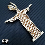 HIP HOP CELEBRITY STYLE GOLD PLATED LARGE CHRISTIAN JESUS BODY PENDANT