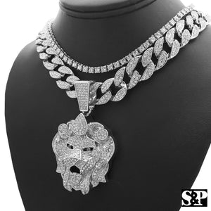 Hip Hop Bling Lion Head w/ 18