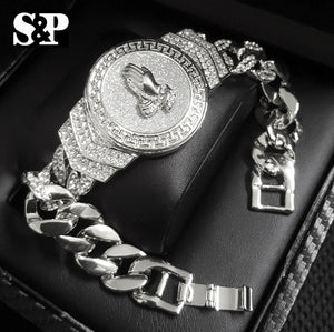 Hip Hop White Gold Plated 8.5