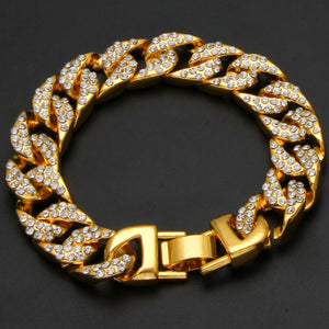 Luxury Hip Hop Gold Plated 13mm 8.5