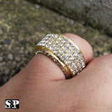 Hip Hop Men's Rapper's Lab Diamond Full Iced Bling Migos Pinky Ring SIZE 8~12