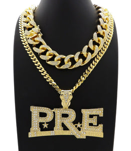 Hip Hop Iced Young Dolph PRE Necklace & 18