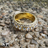 MENS ICED OUT HIP HOP LUXURY MIGOS LAB DIAMOND GOLD PLATED PINKY 8 ~ 12 RING