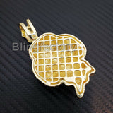 HIP HOP ICED OUT LAB DIAMOND GOLD PLATED TEKASHI69 JIGSAW INSPIRED LARGE PENDANT