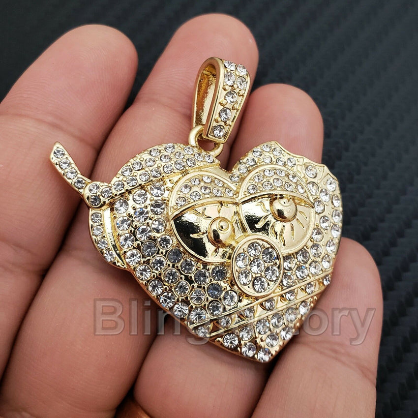 ICED OUT HIP HOP LAB DIAMOND GOLD PLATED Chief Keef Thot Breaker PENDANT