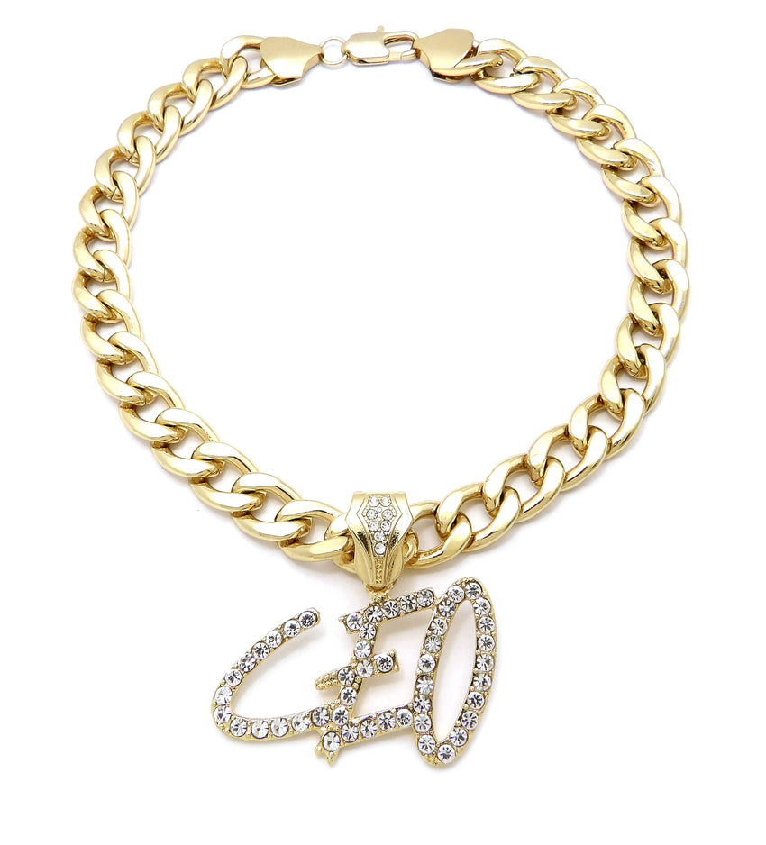 "Iced Hip HOP CEO Bling Pendant & 11mm 18"" 20"" Cuban Choker Chain Necklace"