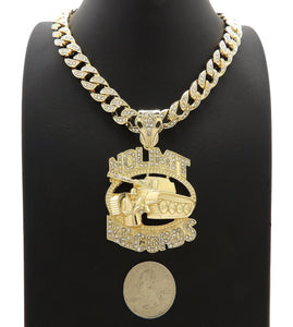 NOLIMIT RECORDS TANK Gold Plated Pendant & 10mm 18