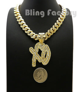 Gold Plated XO Gang pendant & 16