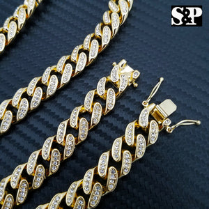 Mens Hip Hop Gold Plated ICED OUT CZ Micro Pave Stud Round Earrings