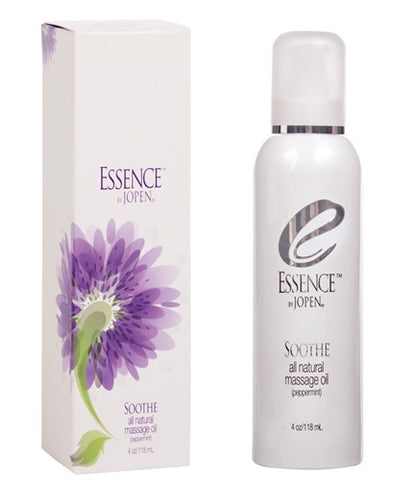 Essence Soothe - All Natural Massage Oil - Peppermint - 4 Fl. Oz. - Kissy Games