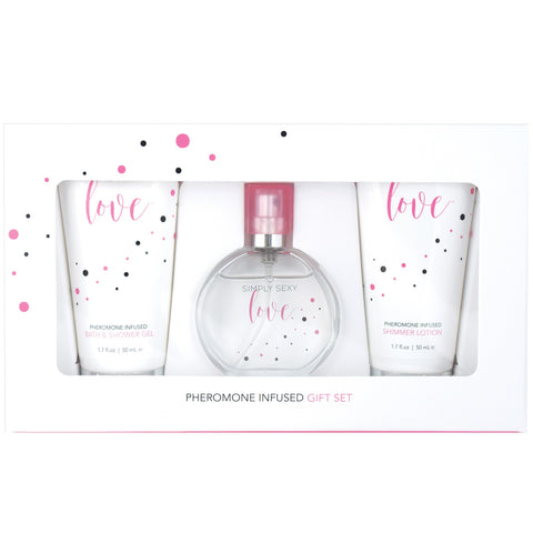 Simply Sexy Love Pheromone Infused Perfume Gift Set - 4 Pcs. - KG