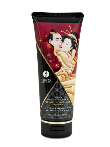 Kissable Massage Cream - Sparkling Strawberry  Wine - 7 Fl. Oz. / 200 ml - KG