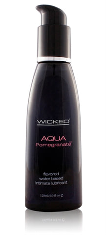 Aqua Pomegranate Flavored Water-Based Lubricant - 4 Oz. - KG