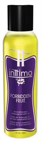 Inttimo by Wet Aromatherapy Bath and Massage Oil - Forbidden Fruit - 4 Oz. - Kissy Games