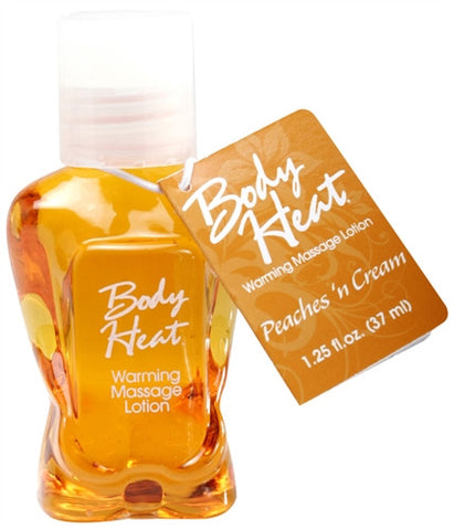 Body Heat -  Peaches N Cream - 1.25 Oz. - Kissy Games