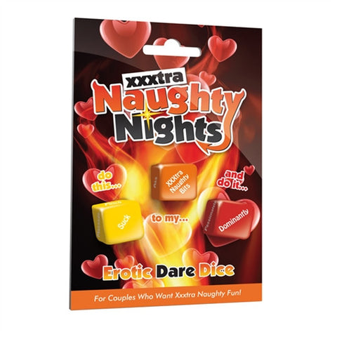 Xxxtra Naughty Nights Dice - Sex Dice Game for Couples - CC-USNNDXXX