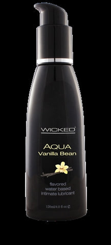 Aqua Vanilla Bean Flavored Water-Based Intimate Lubricant 2 Oz. - KG
