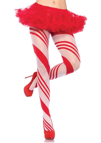 Spandex Sheer Candy Striped Pantyhose - KG