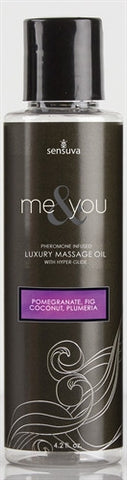 Me and You Massage Oil - Pomegranate Fig Coconut Plumeria - 4.2 Oz. - KG