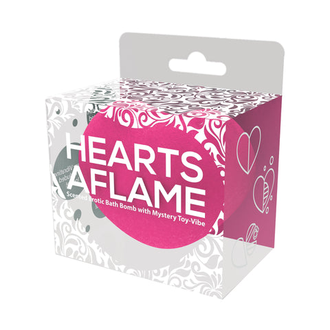 Hearts Aflame Erotic Lovers Bath Bomb - KG