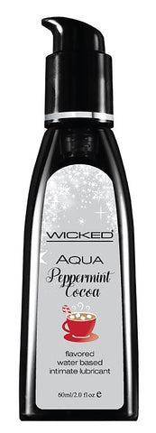 Aqua Peppermint Cocoa Flavored Water Based Lubricant - 2 Oz. - KG