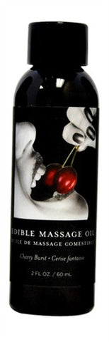 Cherry Edible Massage Oil - 2 Oz. - KG