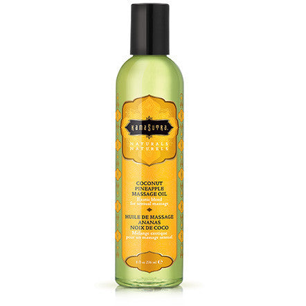 Naturals Massage Oil - Coconut Pineapple - 8 Fl. Oz. - Kissy Games