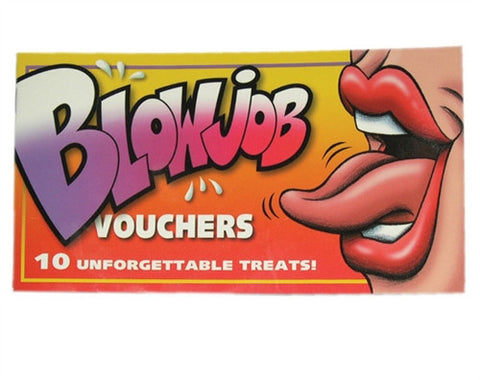 Blow Job Vouchers - Kissy Games