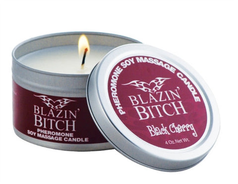 Pheromone Candle Blazin Bitch - 4 Oz. - KG
