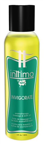 Inttimo by Wet Aromatherapy Bath and Massage Oil - Invigorate - 4 Oz. - Kissy Games