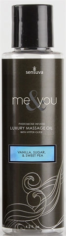 Me and You Massage Oil - Vanilla Sugar and Sweet Pea - 4.2 Oz. SEN-VL454