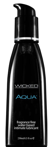 Wicked Aqua Fragrance Free Water-Based Lubricant - 8.5 Fl. Oz. / 250 ml - KG