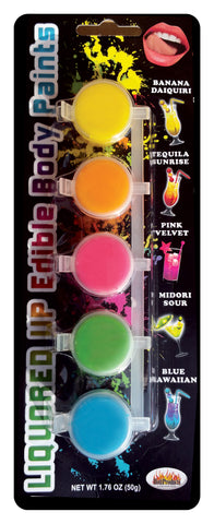 Liquored Up Edible Body Paints - 5 Assorted Flavors - KG