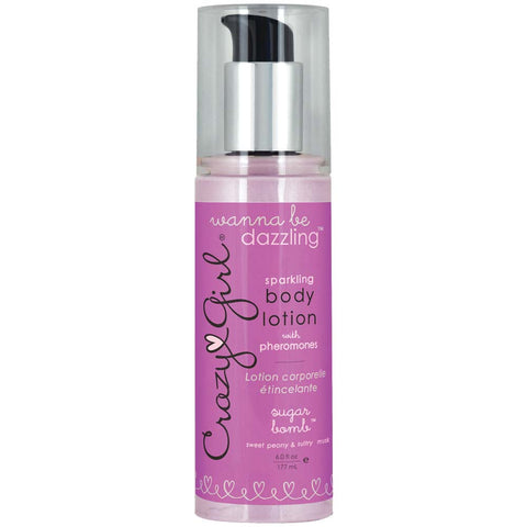 Crazy Girl Wanna Be Dazzling Sparkling Body Lotion With Pheromones - Sugar Bomb - 6 Fl. Oz. / 177 ml - KG