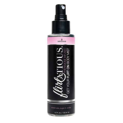 Flirtatious Pheromone Infused Body Mist - Vanilla, Sugar, & Sweet Pea - 4.2 fl.oz / 125 ml - KG