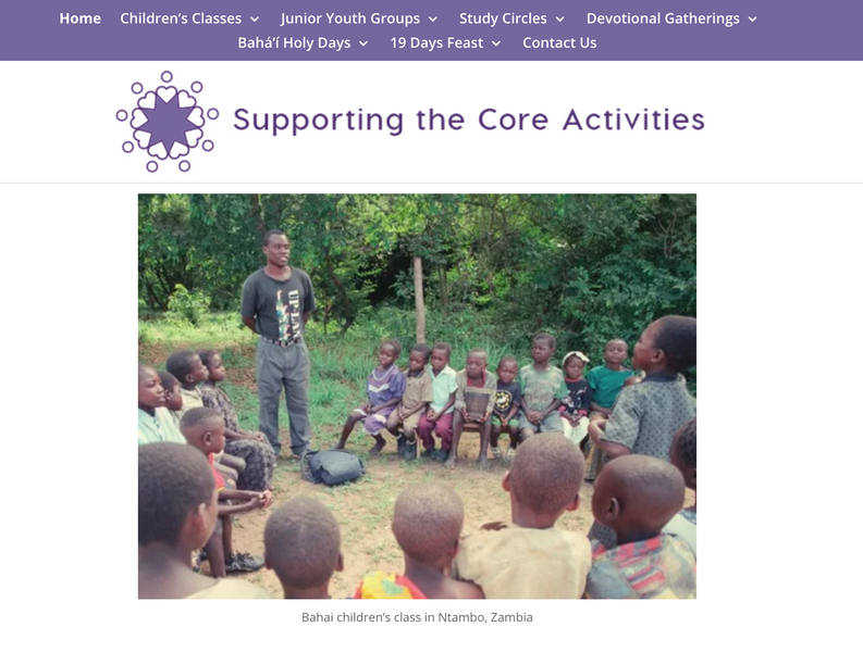 New Website for Supporting the Core Activities