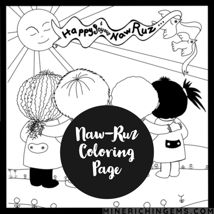 A Gift Coloring Page for Naw-Rúz!