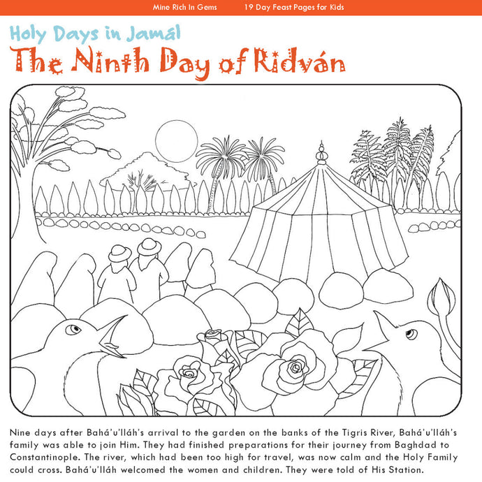 Ninth Day of Ridván Story & Coloring Page