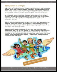 19 Day Feast Pages for Kids Baha'i community development calendar in Portuguese for Children