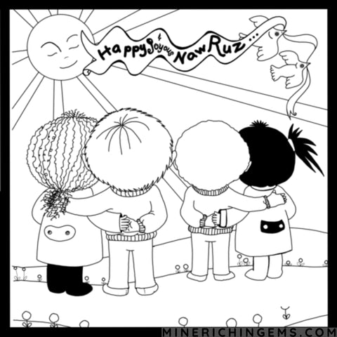 Happy Naw-Rúz Coloring Pages