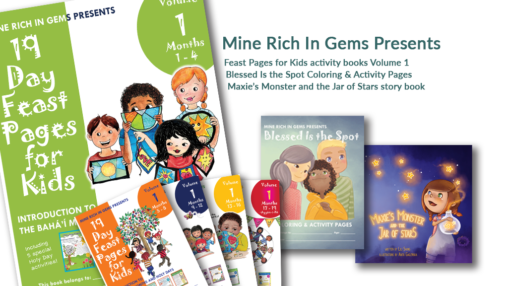 BUNDLE! Feast Pages for Kids Volume 1 + Blessed is the Spot Activity Book + Maxie's Monster and the Jar of Stars | PRINTED BOOK BUNDLE