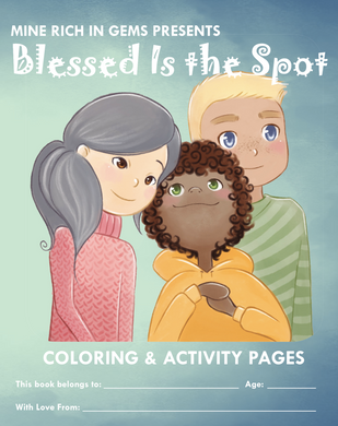 BLESSED IS THE SPOT | Coloring & Activity Pages | PRINTED WORKBOOK