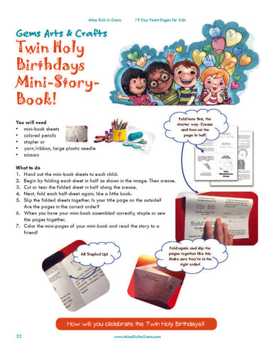 VOL 1 | Twin Holy Birthdays Mini-Book | DOWNLOAD