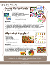 19-Day Feast Pages for Kids! Issue 14 Asmá - Names