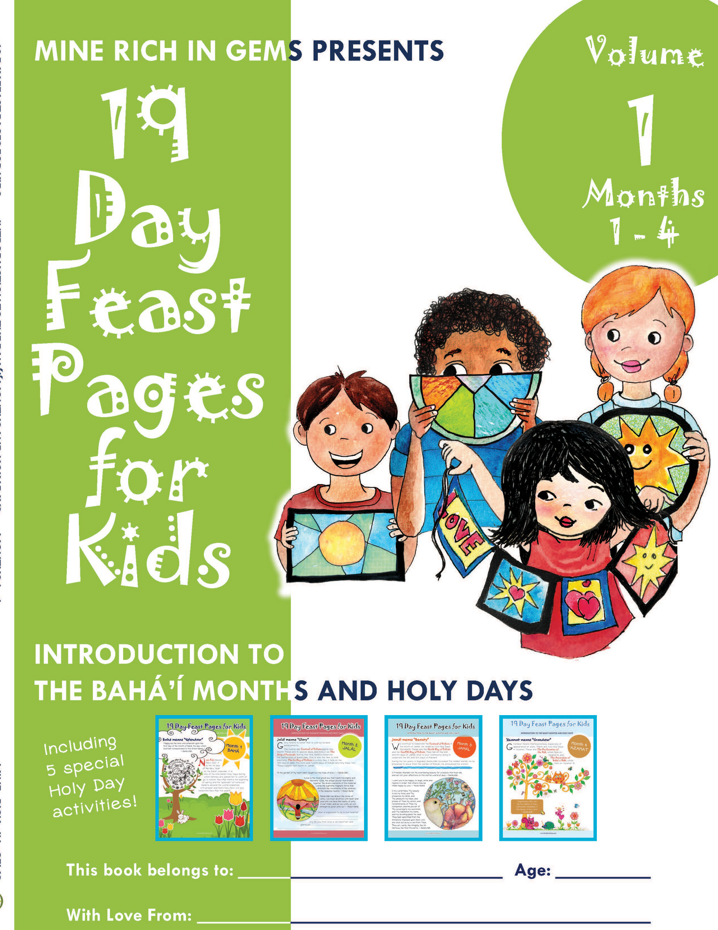 Printed Bundles | 19 Day Feast Pages for Kids: Introduction to the Bahá'í Months and Holy Days | Months 1-4