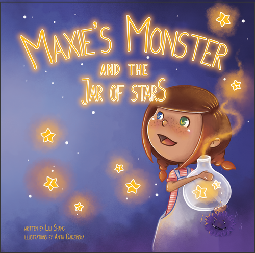 MAXIE'S Monster and the Jar of Stars HARDCOVER CHILDREN'S PICTURE BOOK