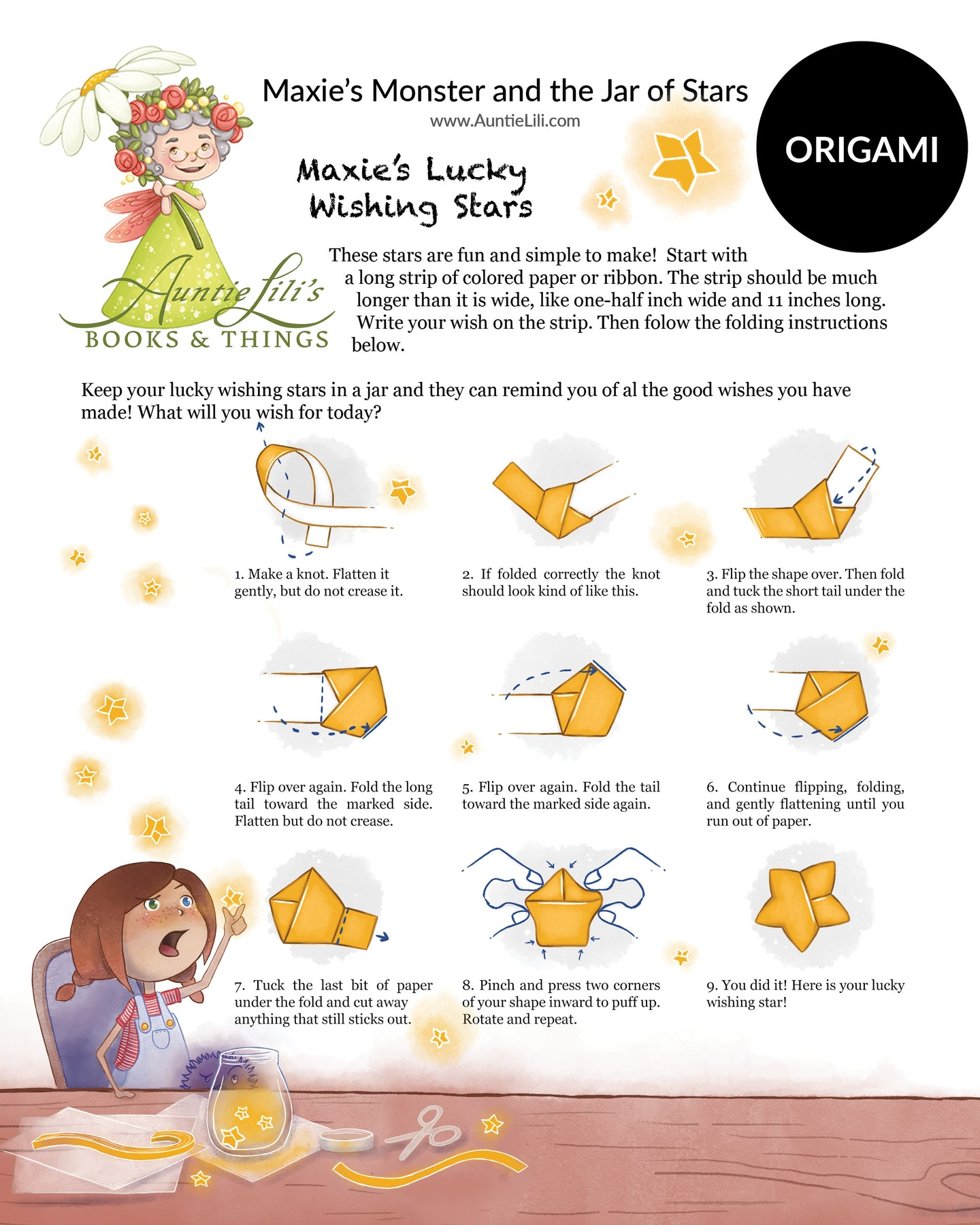 MAXIE'S Origami Activity | DOWNLOAD